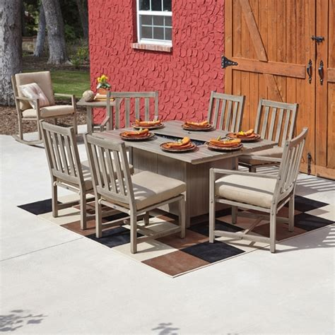 Patio Furniture The Woodlands by Woodard Woodlands 7 Pit Dining Set Wd