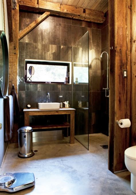 Modern Rustic Bathroom Rustic Industrial Bathrooms Interior Design Design News And Architecture Trends