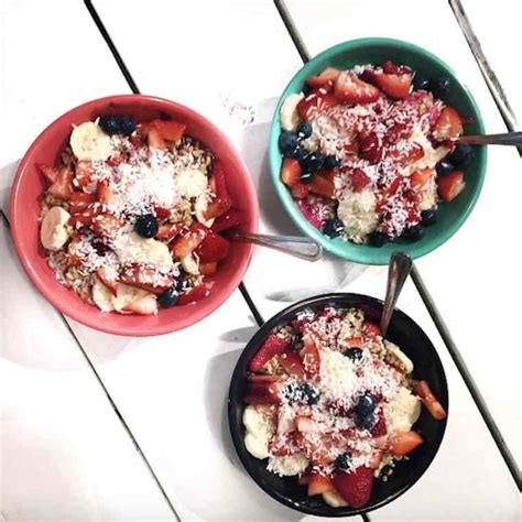 Backyard Bowls Sweaty Bowl The Healthiest Instagram Meals From Popular Healthy