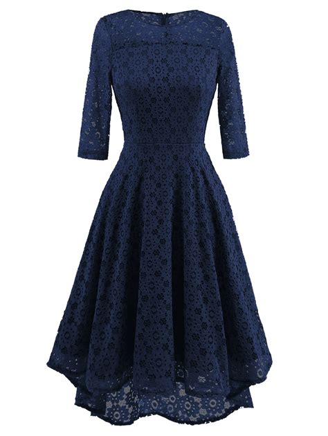 3 4 Sleeve Lace Dress womens lace evening cocktail dress 3 4 sleeve
