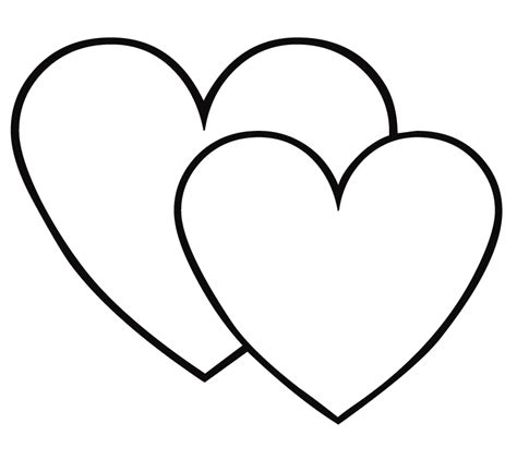 double heart coloring page coloring pages hearts free printable coloring pages for