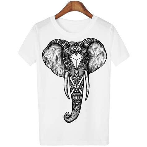 aliexpress buy 2016 casual t shirt tshirt sleeve kawaii elephant print