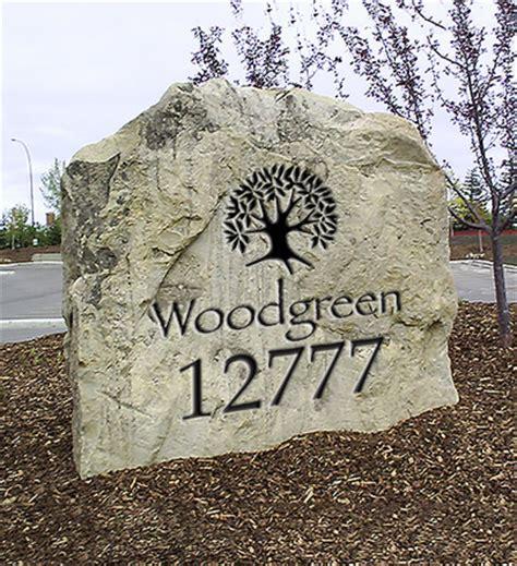 Landscape Rock House Number Address Rocks Sunset Memorial