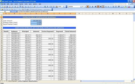 28 home loan spreadsheet loan payment spreadsheet