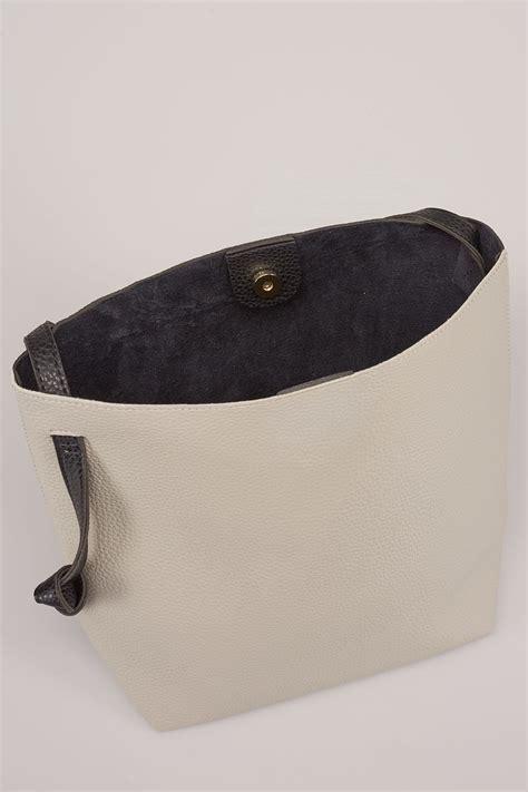 Gap Vertical Black Grey T3010 black grey shopper bag with knot handles