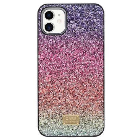 rainbow series iphone  hybrid case purple pink