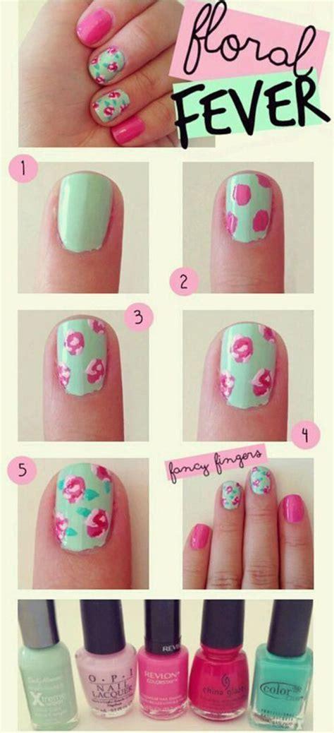 easy nail art tutorial step by step easy step by step spring nail art tutorials for beginners