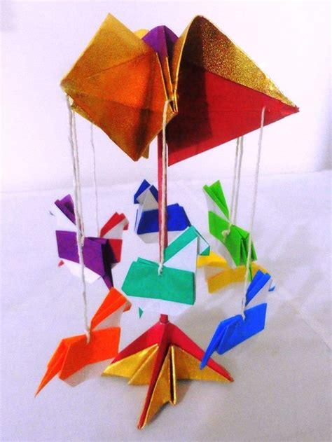 Easy Origami Toys - origami carousel or merry go toys and