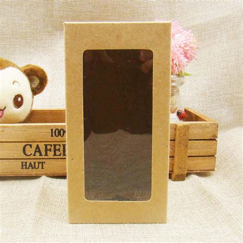 kraft paper window boxes 7 7 14cm popular kraft paper window boxes packaging