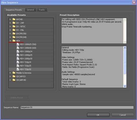 adobe premiere pro new sequence adobe premiere pro скачать бесплатно