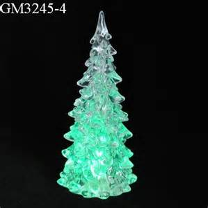 clear acrylic christmas tree with color changing led light