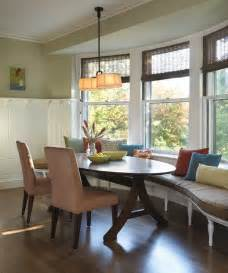curved banquette dining room contemporary with
