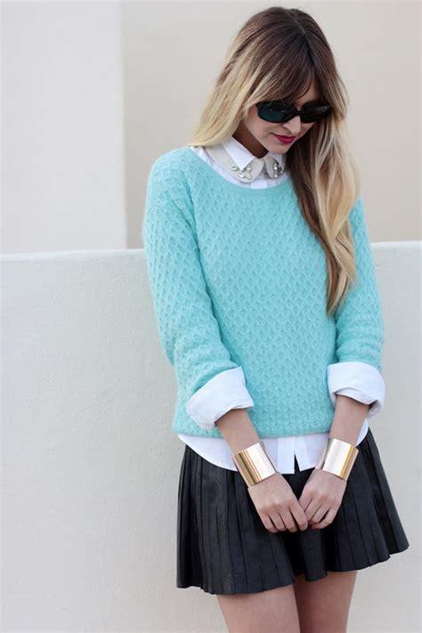 Sweater Crop Cewek 12 ways to style a white collared shirt brit co