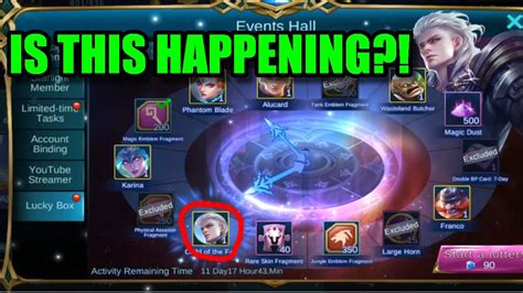 my event mobile legend mobile legends new alucard skin in lucky box event