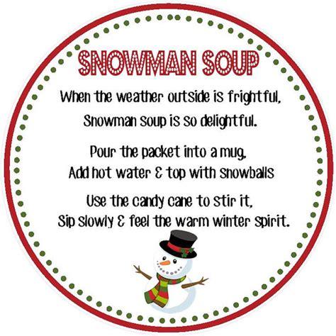 printable snowman tags 8 best images of snowman soup printable labels snowman