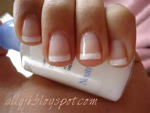 ally s nails a basic french manicure with gel nail polish