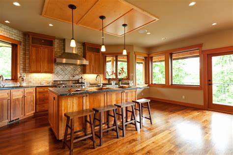 Which Hardwood Stain Go With Cabinet Kitchen - 52 enticing kitchens with light and honey wood floors