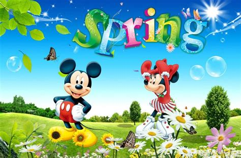 disney wallpaper minnie s spring walk mickey minnie spring spring easter pinterest