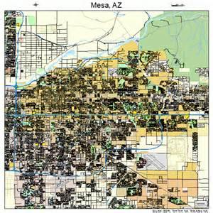 Map Of Mesa Arizona by Mesa Arizona Street Map 0446000