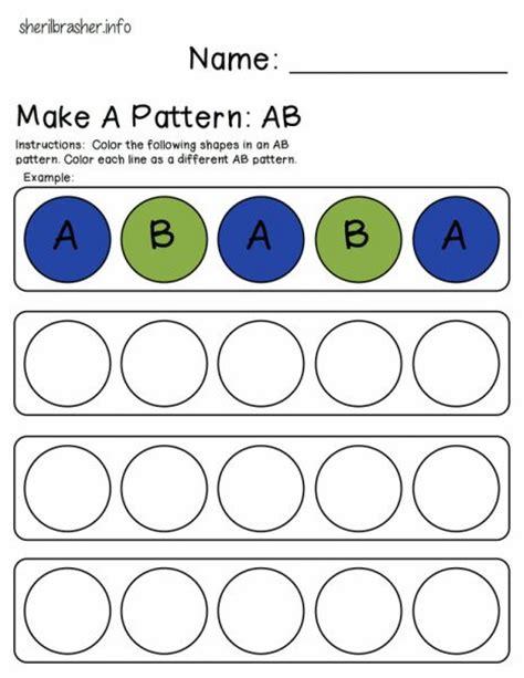 ab pattern worksheets for kindergarten 78 best ideas about preschool homework on pinterest
