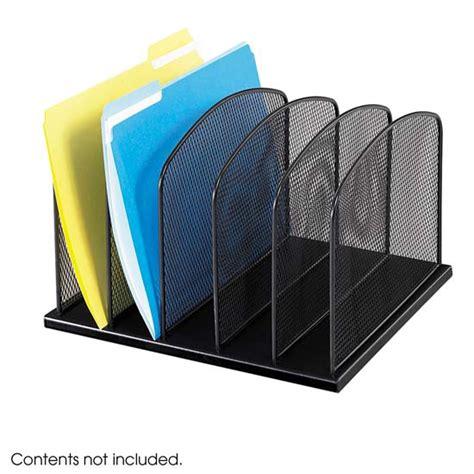 desk filing organizer safco products onyx 5 file desk organizer 3256bl desk