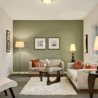 Sage Green Accent Wall | 15 contemporary grey and green living room designs green