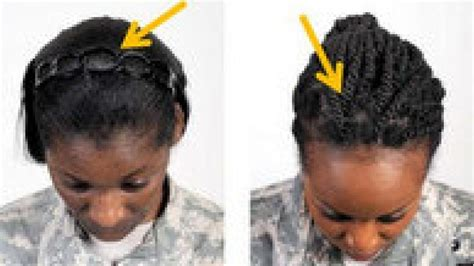 hairstyles for female army soldiers the pentagon s new target hairstyles worn by black women