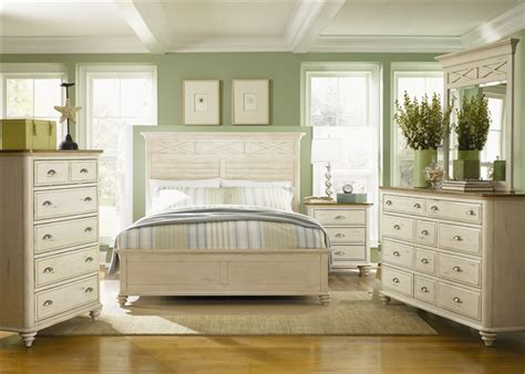 ocean isle bisque and natural pine file ocean isle panel bed 6 piece bedroom set in bisque with