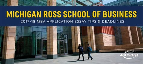 Ross Mba Questions by Michigan Ross Mba Essay Tips Deadlines The Gmat Club
