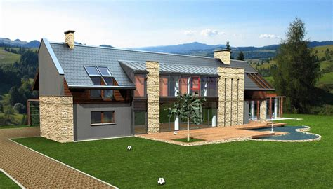 modern house in country modern country house 3d model landscape country 3ds max