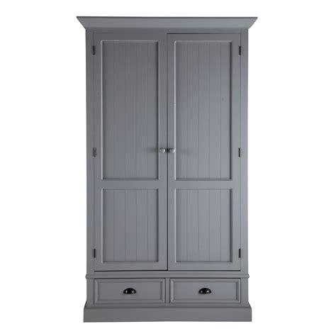 kleiderschrank aus holz kleiderschrank aus holz b 114 cm grau newport maisons