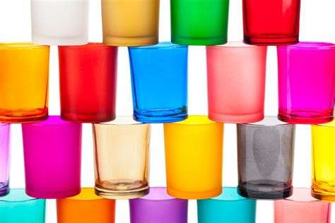Colored Glass Pillar Candle Holders Colored Glass Votive Candle Holders