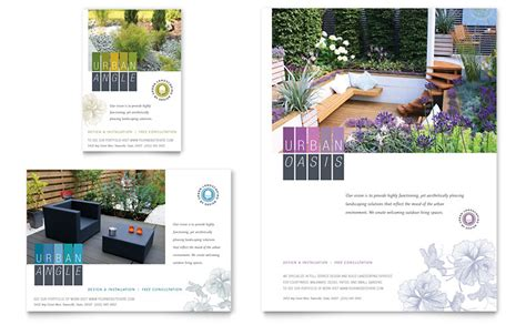landscape brochure template landscaping flyer ad template word publisher
