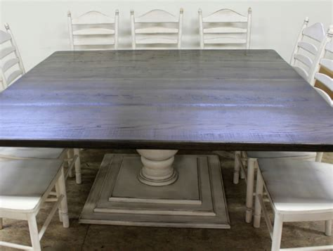 72 Inch Square Black Table In Reclaimed Oak Lake And