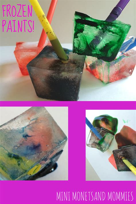 mini monets and mommies frozen activity science and colors for