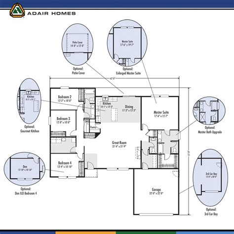 adair homes floor plans prices the lewisville 2325 home plan adair homes floor