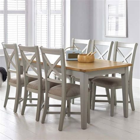 large dining table seats 6 bordeaux painted light grey large extending dining table