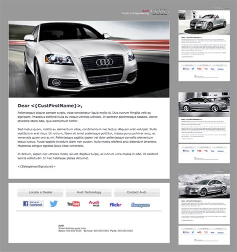 Audi Branded Automotive Dealership Email Newsletter On Behance Car Dealer Email Templates