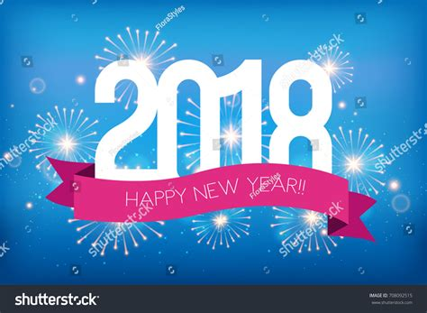 happy new year 2018 greeting card stock vector happy new year 2018 greeting card stock vector 708092515