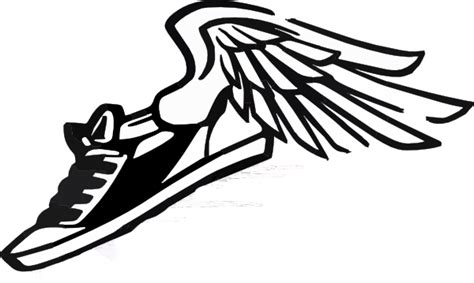 running shoe with wings clip art at clker com vector