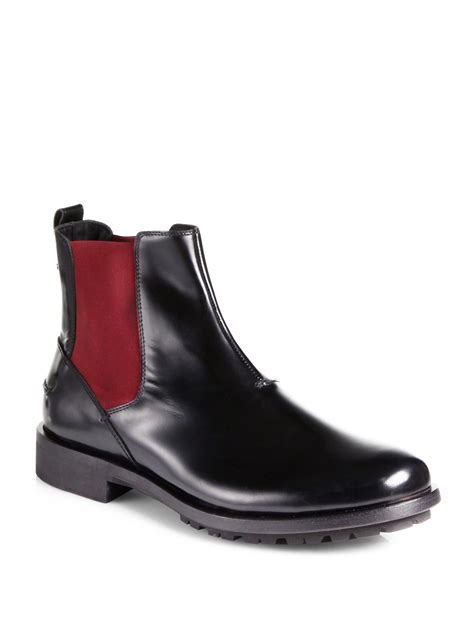 fendi boots for fendi leather chelsea boots in black for black multi