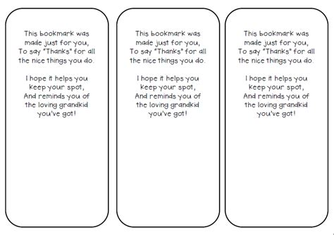 printable bookmarks for grandparents day teachin little texans grandparents day bookmark gift