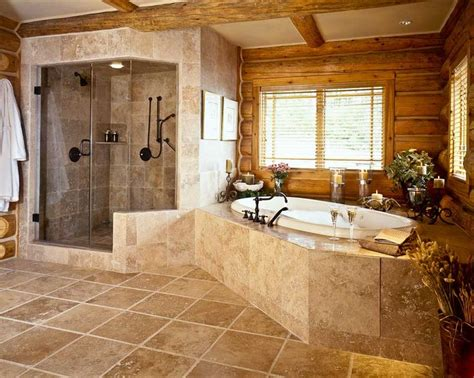 Log Home Bathroom Ideas two person shower rocky mountains and logs on pinterest