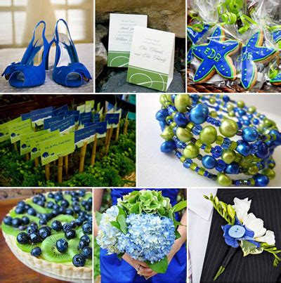 blue green weddings blue and green wedding accessories