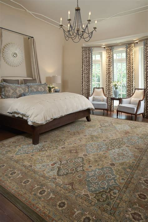 master bedroom suite with area rug interiors that work