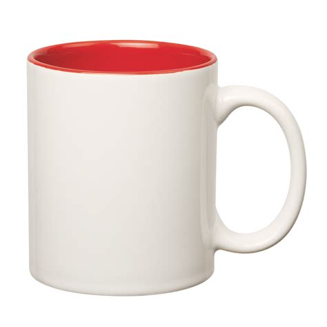 Inner White 7125 11 oz colored stoneware mug with c handle