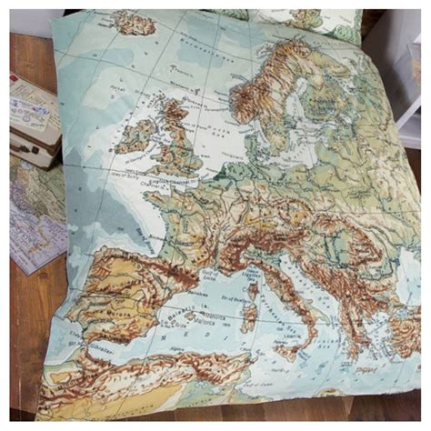 map comforter set globe map vintage double duvet set by cielshop