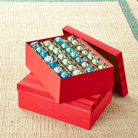 ornament box storage moir 233 archival ornament storage box the container store