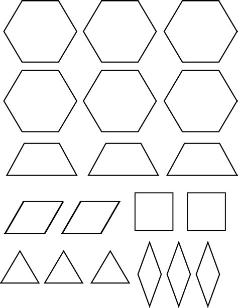 shape template pattern block template 3 for free tidyform