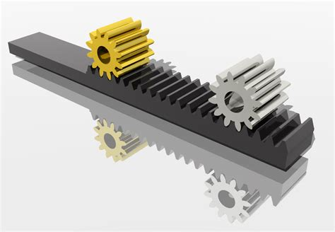 rack and pinion solidworks step iges stl catia 3d